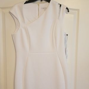 Bright white sleeveless dress